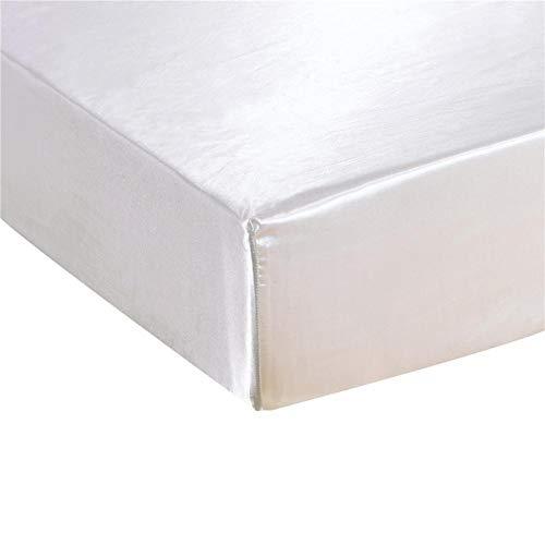 Vommpe - Sábana bajera (180 x 200 cm, gorro 30 cm, cama de 2 personas), color blanco
