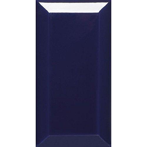 1 QM Metro Fliesen Keramikmosaik Facette Fliese Dunkel Blau Glänzend