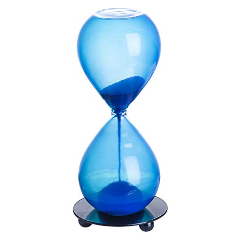SG Hourglass Sand Timer-Magnetic Sand Timer with Iron Base Desktop Decoration,Blue