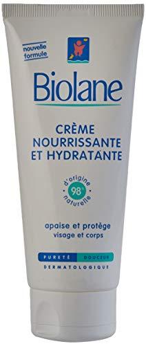 Biolane – Crème Nourrissante et Hydratante – Crème pour le visage et le corps des bébés – Protège les peaux sèches et sensibles – 100 ml
