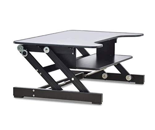 ZOUSHUAIDEDIAN Convertidor de escritorio de pie ajustable de altura, mesa de escritorio multifuncional, resucitación de escritorio de pie, estacion de oficina de escritorio de oficina para monitores y