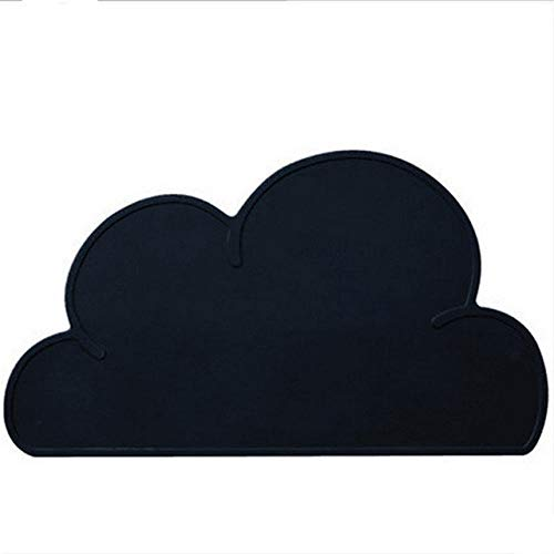 Xixihaha Cartoon Imperméable Napperon Silicone Bébé De Table Tapis Qualité De Gel De Silice for Enfants Art De La Table Tapis De Grande Taille (Color : Cloud Black)
