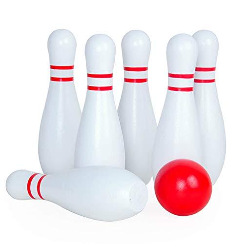 LIOOBO Holz Bowling Set Sport Bowling Ball Indoor Outdoor Rasen Spiel für Kinder Familie Freunde Eltern-Kind-Interaktion Spielen Parteien Picknicks Grillzubehör