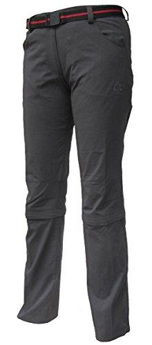 Maul Trail II Pantalon de randonnée convertible pour femme Anthracite Taille 19