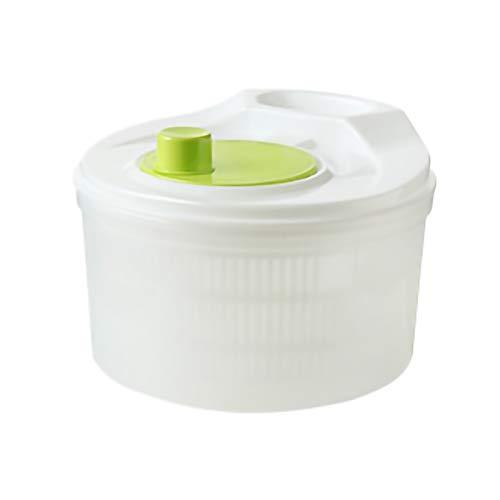 BCGT Ensalada Spinner Spinner de ensalada grande con tazón de cuenco claro, canasta de colador, tapa de bloqueo inteligente, fácil sistema de drenaje, base antideslizante 21 cm de lavado, secar y vest