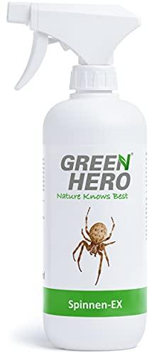 Green Hero Spinnen-Ex Spray zur Spinnenbekämpfung, Fernhaltemittel gegen Spinnen, Vertreibungsmittel, Abwehrspray mit Barrierewirkung, 500 ml