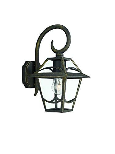 Philips buitenlamp, glas, Noir et Or, Applique, E27