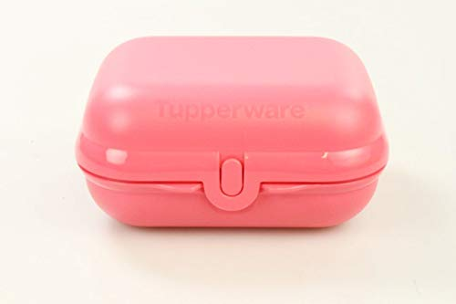 TUPPERWARE To Go Twin pastellrot Brotdose Box Behälter Dose Brot Größe 3