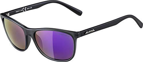 Alpina volwassenen Granby S QVMM skibril, grijs transparant mat, One Size