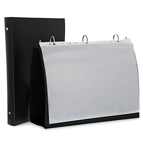 Juvale 2-Pack Black Presentation Folder Binder with 10 Sheet Protectors for 8.5 x 11 Inches