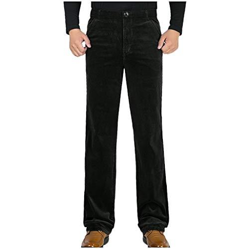 MäNner Jogger Cargo chino jeans broek elastische heupriem met zakken, wintervrije tijd, puur broek recht pluche broek business losse lange broek XXXL marineblauw