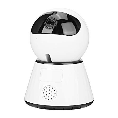 Mini Monitor Blanco del Bebé de WiFi, DeteccióN de Movimiento Pir Y Alarma de TeléFono MóVil PortáTil CáMaras de Vigilancia WiFi para Seguridad en El Hogar (110-240V)(Enchufe DE LA UE)