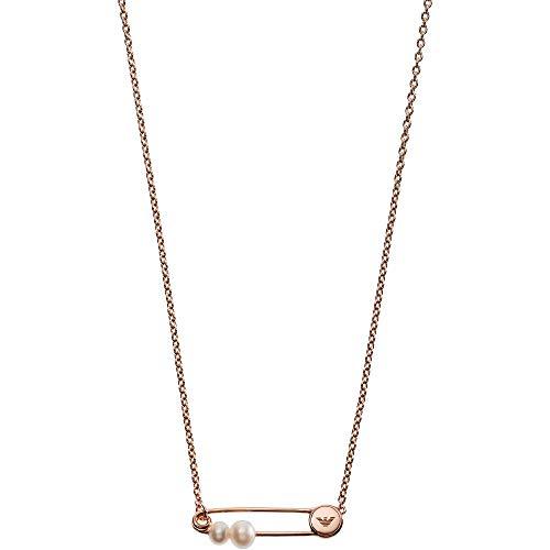 Emporio Armani Damen-Kette ohne Anhänger 925 Sterlingsilber Perle EG3379221