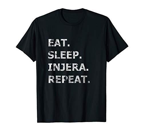 Eat Sleep Injera Repeat Brot Liebe Habesha Eritrea Äthiopien T-Shirt