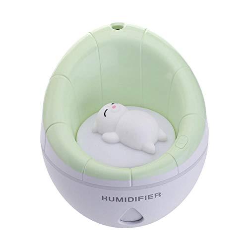 350ml ultrasone bevochtiger LED nachtlampje sofa aromadiffuser USB-luchtbevochtiger etherische olie aromadiffuser reiniger verstuiven groen