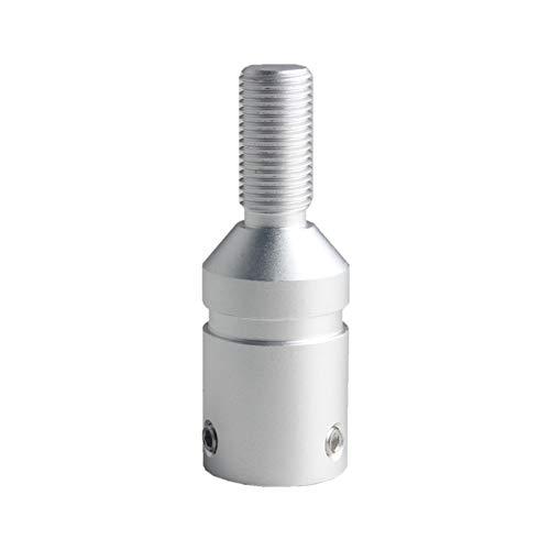 DEWHEL Custom Aluminum Universal Shift knob Shifter Adapter for Non Threaded Shifters BMW Mini M12X1.25 (Silver)