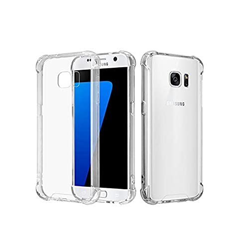 Clear Case for Samsung Galaxy S6 Edge with Slim Clear Soft TPU, Thick Back...