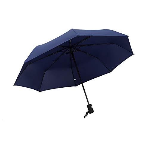 JIGAN Reisparaplu, vrijwel onverwoestbare winddichte overkapping, Automatische opening, Slip-Proof Handvat voor gemakkelijk dragen door Repel, Blauw