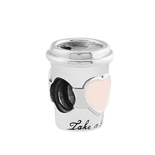Pandora S925 joyería de plata esterlina colgante garrafa bebida para ir charme rosa esmalte se encaixa para una marca feminino encanto pulseiras jóias