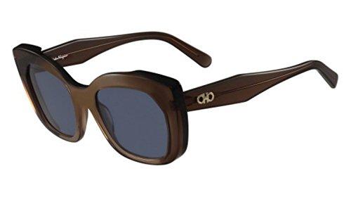 Ferragamo SF860S vlinder zonnebril 54, meerkleurig