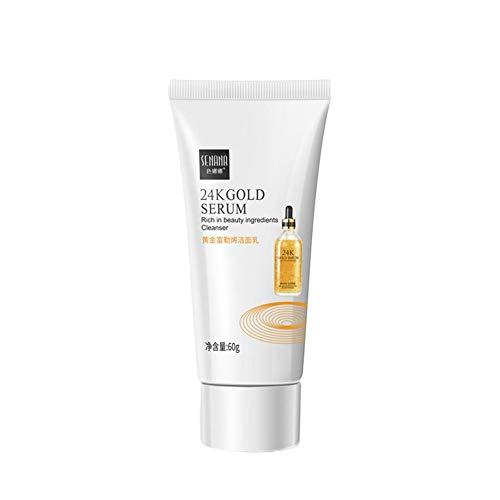 24K Golden Serum Crema Limpiadora Facial Crema Limpiadora Facial Crema Limpiadora Refrescante Suave Hidratante Crema Limpiadora Profunda Cuidado de la Piel