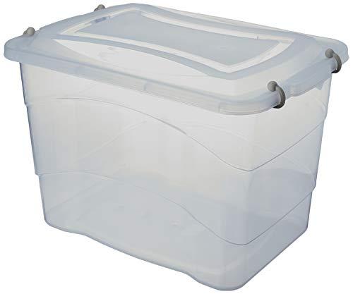 Caixa Plastica Multiuso Pratic Box 20l 41 x 29 x 25 cm. - 01 Unidade Paramount Incolor