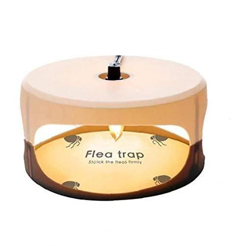 Lámpara de pulgas Trampa Mosca asesina Redondo de instalación Simple Discos de Pegamento El Mejor Control de plagas para el Enchufe de la UE del hogar