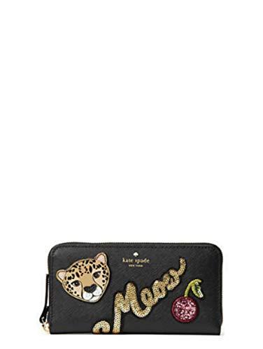 KATE SPADE Run Wild Leopard Neda Zip around Women's Leather Wallet