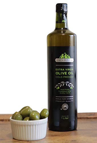 Gourmet Olive Oil, Cold Pressed Extra Virgin Olive Oil, Made From Chilean Olives (1 Liter Bottle)