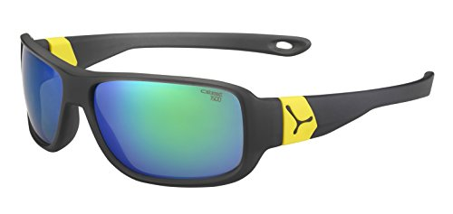 Cébé Scrat Gafas de Sol, Unisex niños, Matt Grey/Yellow, Small