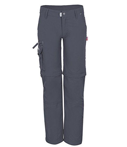 Trollkids Quick-Dry Zip-Off Hose Oppland Slim Fit, Dunkelgrau, Größe 158