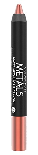 Golden Rose Matte Lipstick Crayon, Metallic Lip Pencil - 04 Coral