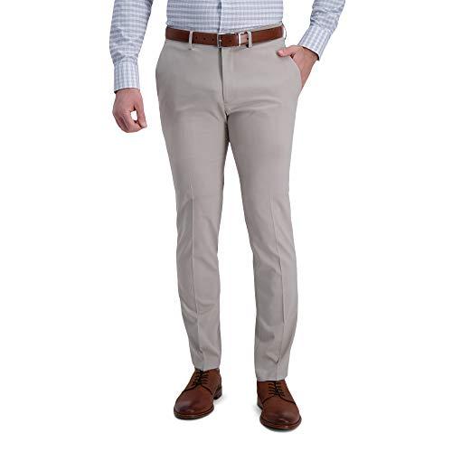 Kenneth Cole REACTION Men s Slim Fit Flat Front Dress Pants, Stone, 30W x 32L US