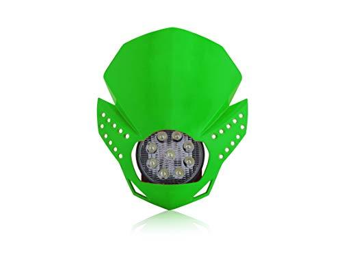 Façade LED foudre vert