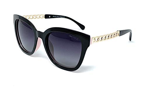 Gafas De Sol Polarizadas Venice, con Protección UV400… (Negro-Rosa)