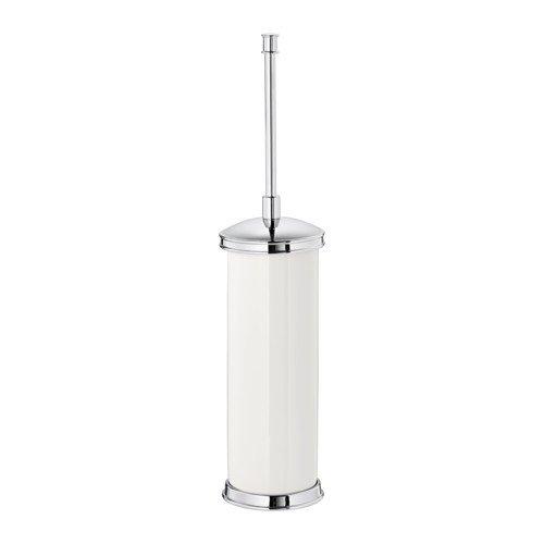 IKEA BALINGEN toiletborstel/houder in wit