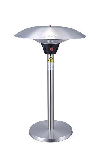 GREADEN - Chauffage de Table Infrarouge Mercury Parasol Chauffant Mobile et Esthétique Radiateur électrique de terrasse à Halogène 2100 W- Extérieur IP44 (Chauffage Seul)