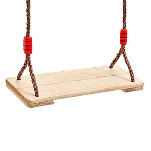 Altalena per bambini Albero dell'oscillazione del sedile dell'interno della corda all'aperto dell'oscillazione dell oscillazione di legno per bambini Adulti Bambini Altalena regolabile in altezza