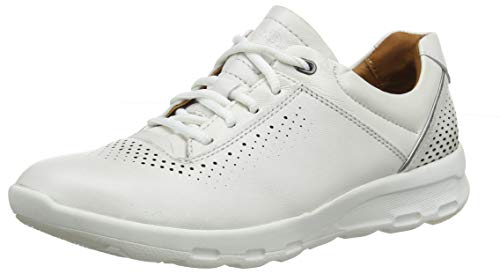 Rockport Women's Low-Top Trainers, White (Pearl White 002), 39.5
