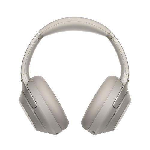 Sony WH-1000XM3 Casque Bluetooth à réduction de bruit sans fil avec micro pour appels téléphoniques, Alexa et Google Assistant intégrés, Argent