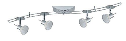 Paulmann 97515 Rail System Sheela S 150 4x35W GU5,3 Chrom matt/Opal 230/12V 150VA Met/Glas