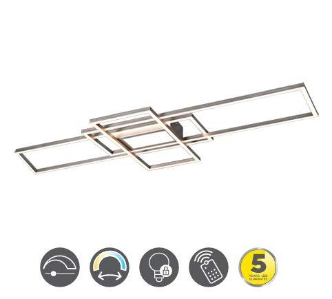 Moderne LED Deckenleuchte IRVINE CCT kaltweiss - warmweiss mit Fernbedienung 620010407