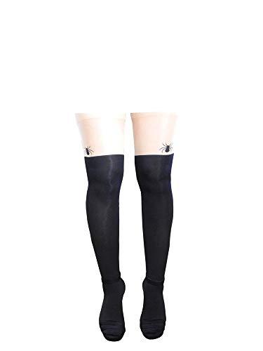 Lovelegis Medias de mujer sexy - parisinas - medias elásticas - fantasía - color carne - desnudo - talla única - araña - idea de regalo de cumpleaños