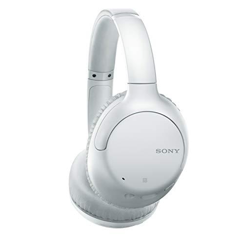 Sony WH-CH710N Casque sans fil à réduction de bruit avec micro pour appels téléphoniques, 35 heures d'autonomie, fonction Charge rapide, compatible assistants vocaux, Blanc