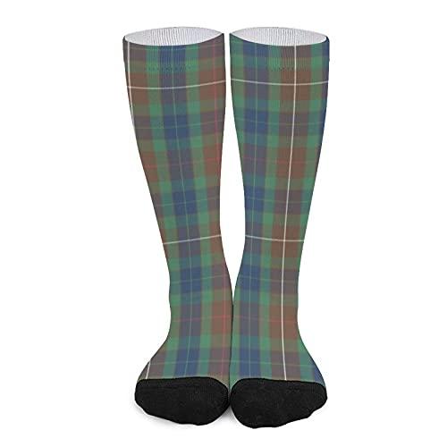 Calcetines deportivos unisex novedad alta comodidad transpirable atlético casual largo tubo calcetines - Fraser Modern Hunting Tartan