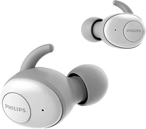 Philips SHB2515WT/10 Écouteurs True Wireless, Écouteurs Intra Auriculaires Sans Fil Bluetooth (Microphone Intégré, 110 Heures d'autonomie, Longue Durée de Vie de la Pile, Reduction de Bruit) Blanc