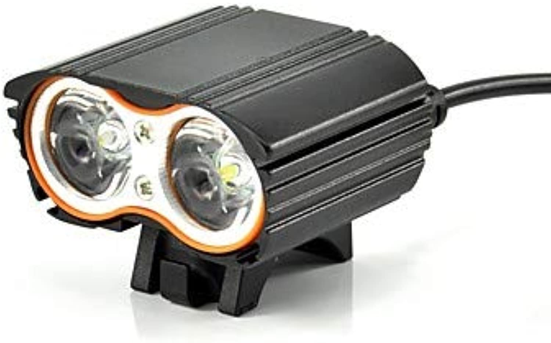 LTAYZ LED Luci Bici Luce davantiale per Bici Fanale Anteriore LED Ciclismo Facile da Appliautoe modalità Multiple Batteria Riautoicabile 1600 lm Batterie Riautoicabili Bianco Campeggio Escursionismo