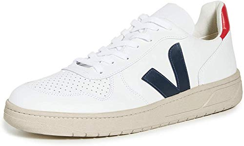Veja V-10 Herren-Sneakers aus Leder, Weiá (Weiß), 46 EU