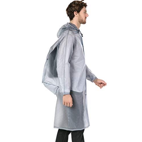 UUNDD Regenponcho regenjas voor volwassenen met rugzak, veelzijdig inzetbaar, voor mannen en vrouwen volwassenen