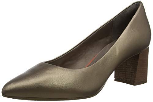 Rockport Total Motion Salima Pump, Zapatos de tacón con Punta Cerrada para Mujer, Beige (Pale Bronze 001), 37 EU